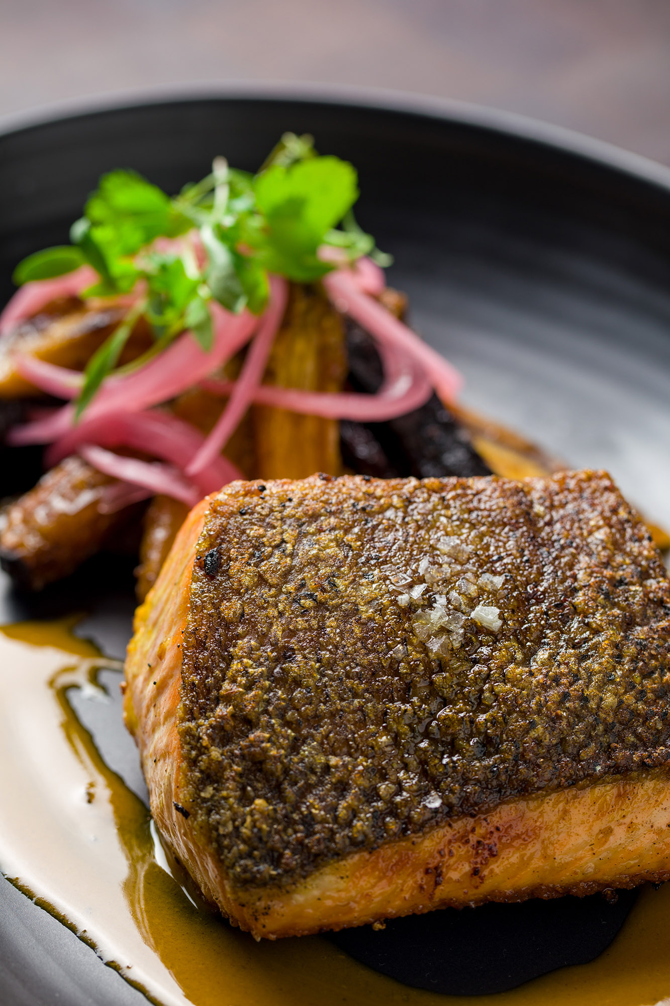 Wild Columbia River King Salmon is here! This fish is known for its rich marbling and distinct texture.