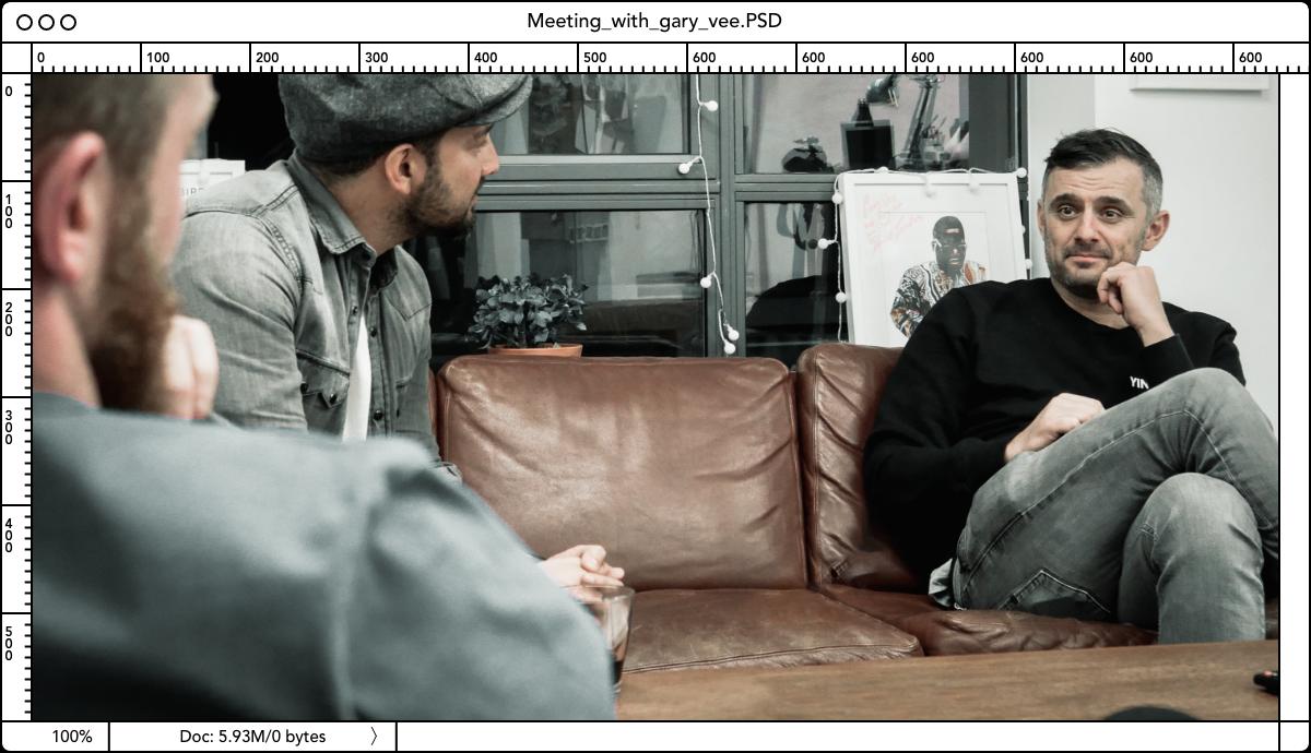 Matt Thorne talking to Gary Vaynerchuck