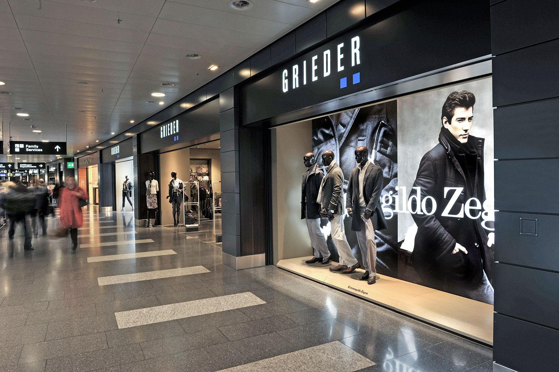 Schaufenster – Grieder, Flughafen Zürich