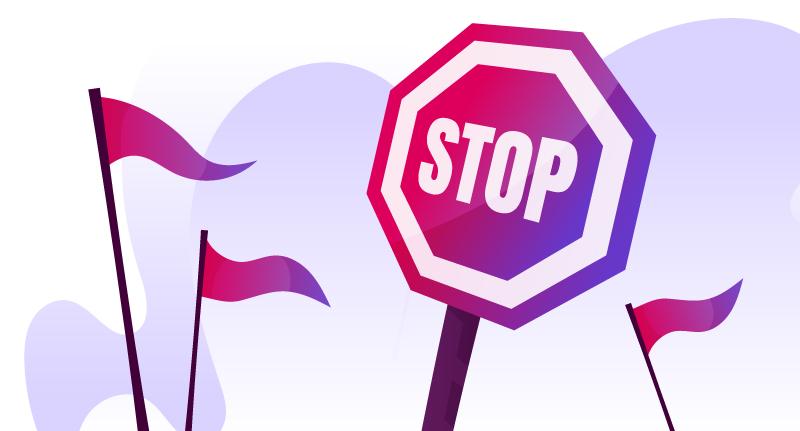 Red Flags und Stoppschild