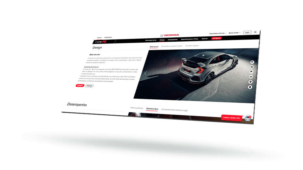 offering Honda's potential customers an intuitive website navigation and a seamless digital experience