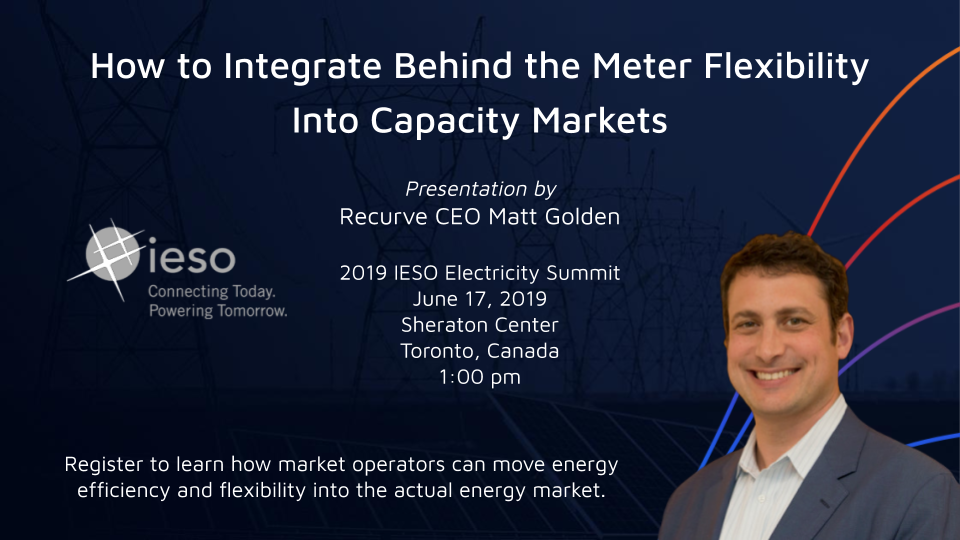 How to Integrate Behind the Meter Flexibility Into Capacity Markets