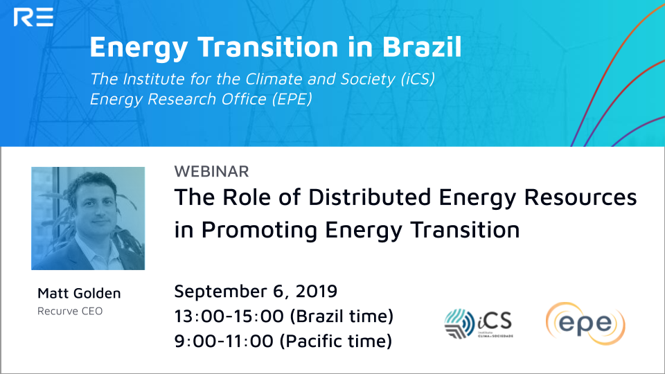 Webinar: The Role of Distributed Energy Resources in Promoting Energy Transition in Brazil