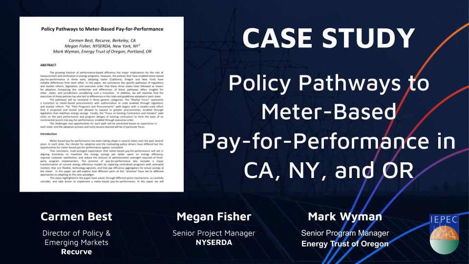 Case Study: Policy Pathways to Meter-Based Pay for Performance