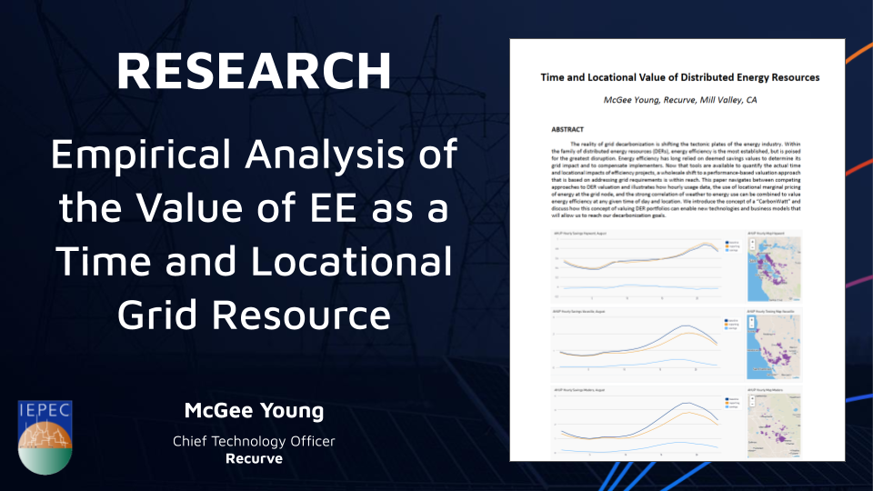Empirical Analysis of the Value of EE as a Time and Locational Grid Resource