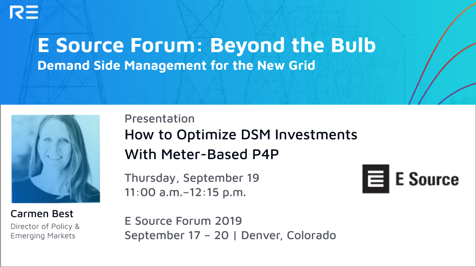 Presentation: How to Optimize DSM Investments with Meter-Based P4P