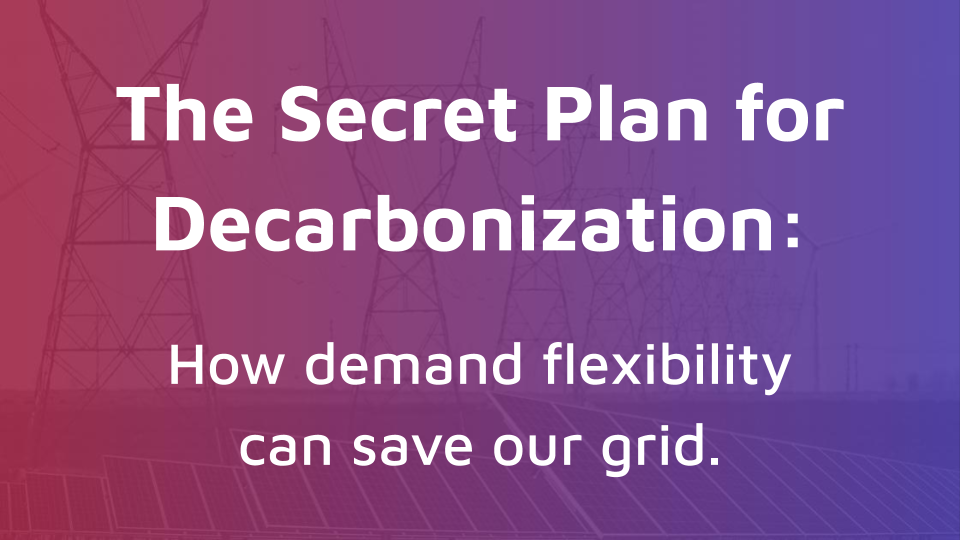 The Secret Plan for Decarbonization: How Demand Flexibility Can Save Our Grid