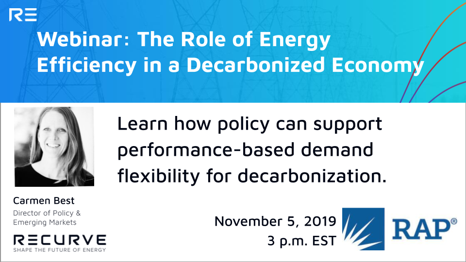 How Policy Can Support Performance-Based Demand Flexibility for Decarbonization