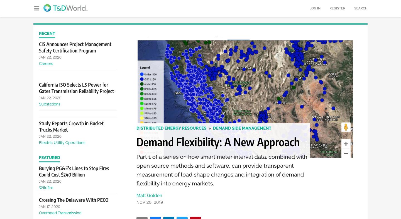 T & D World: Demand Flexibility: A New Approach
