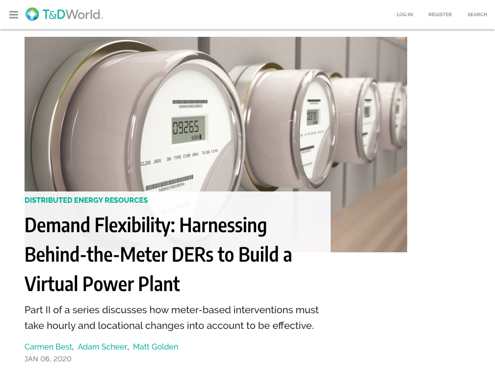 Demand Flexibility: Harnessing Behind-the-Meter DERs to Build a Virtual Power Plant