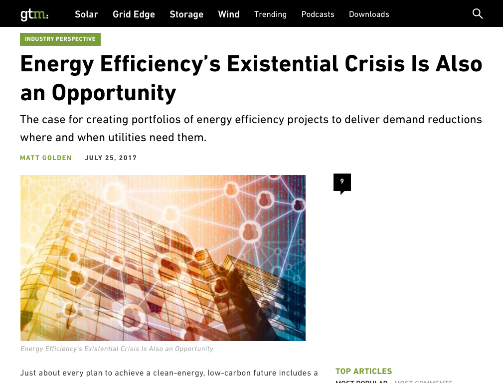 Energy Efficiency's Existential Crisis Is Also an Opportunity