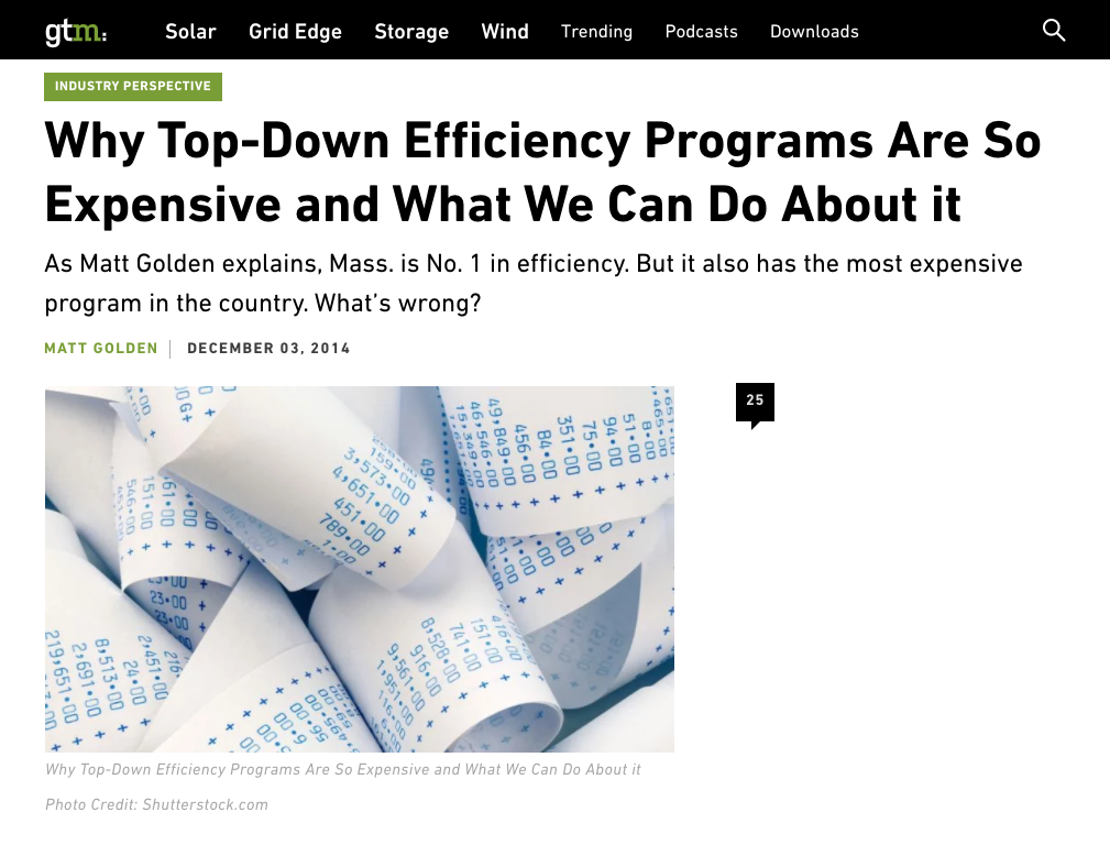 Why Top-Down Efficiency Programs Are So Expensive and What We Can Do About it