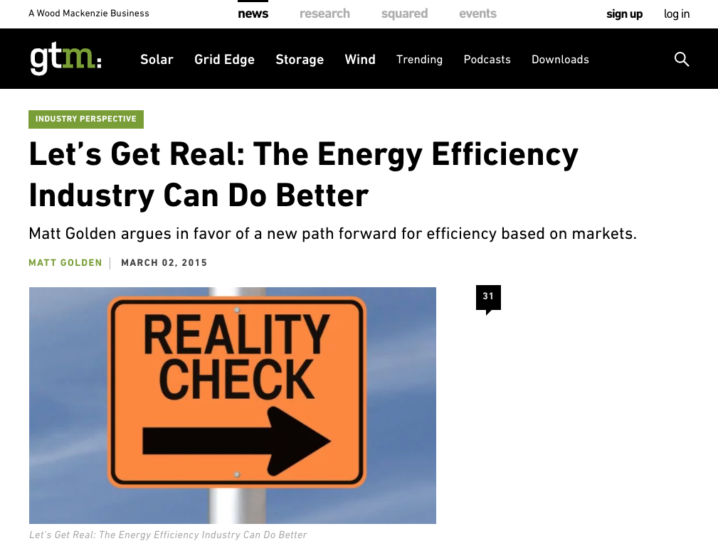 Let's Get Real: The Energy Efficiency Industry Can Do Better