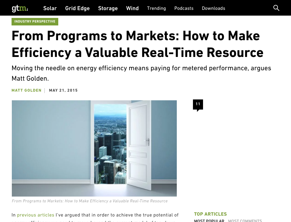 From Programs to Markets: How to Make Efficiency a Valuable Real-Time Resource
