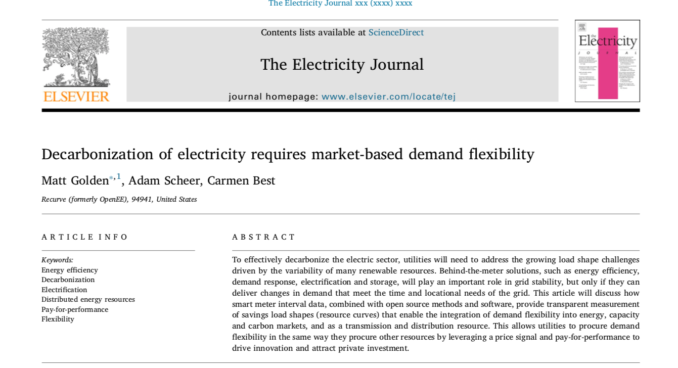 Decarbonization of electricity requires market-based demand flexibility