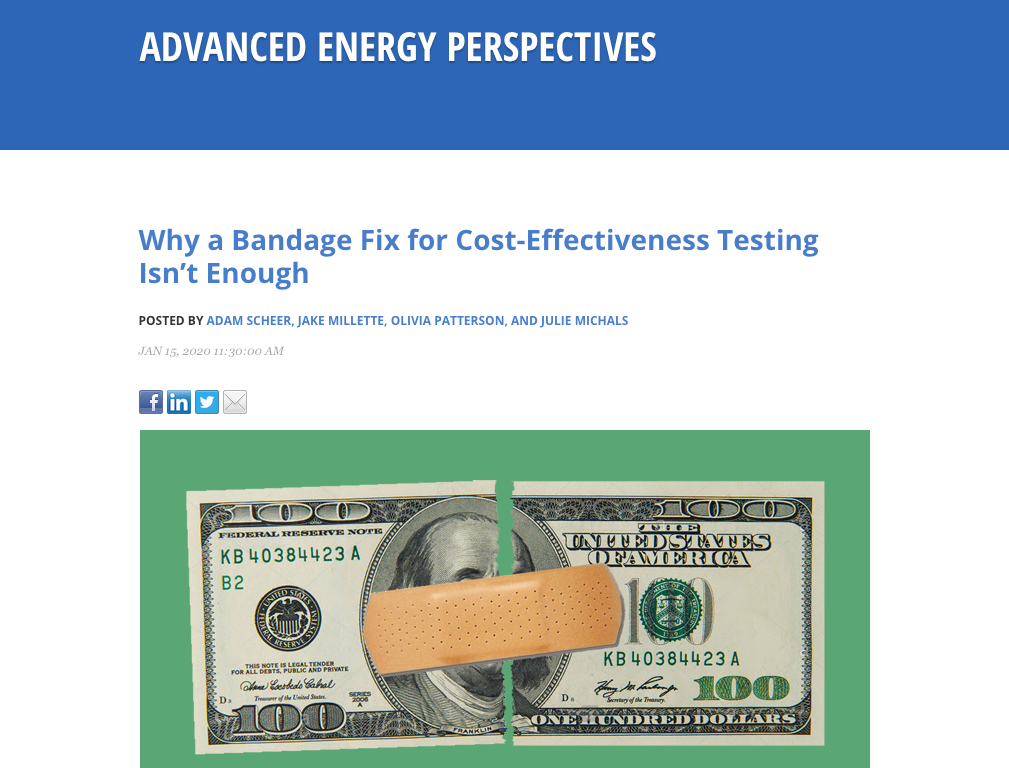 Why a Bandage Fix for Cost-Effectiveness Testing Isn't Enough