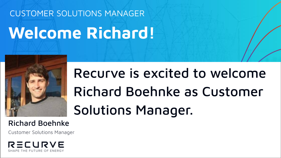 Recurve is Excited to Welcome Richard Boehnke as Customer Solutions Manager!