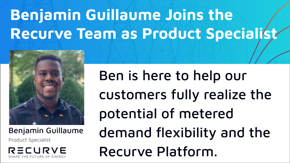 Recurve is Excited to Welcome Benjamin Guillaume as a Product Specialist!