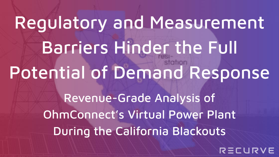 Revenue-Grade Analysis of the OhmConnect Virtual Power Plant During the California Blackouts