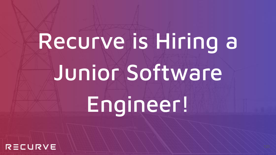 Recurve is Hiring a Junior Software Engineer