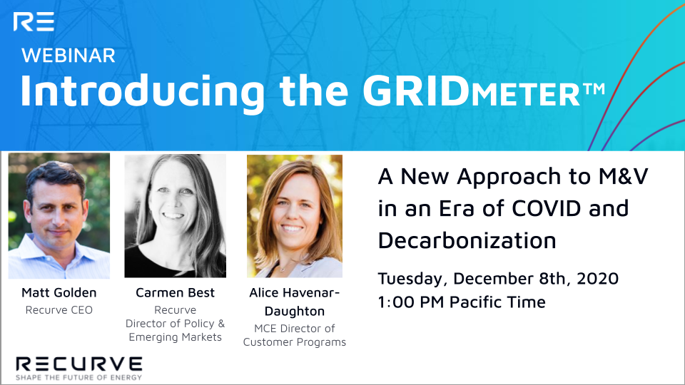 COVID Has Rendered Traditional M&V Obsolete. Learn how the GRIDmeter™ Can Make it Work Again.