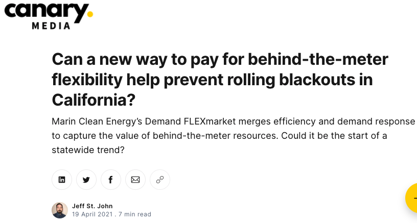 Can a new way to pay for behind-the-meter flexibility help prevent rolling blackouts in California?