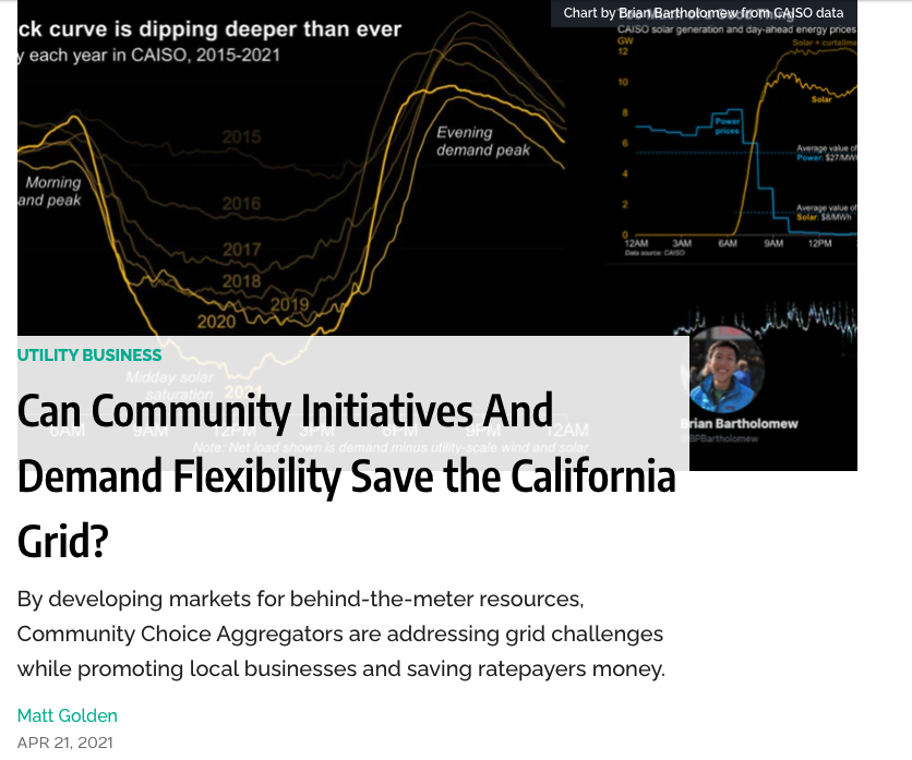 Can Community Initiatives and Demand Flexibility Save the California Grid?