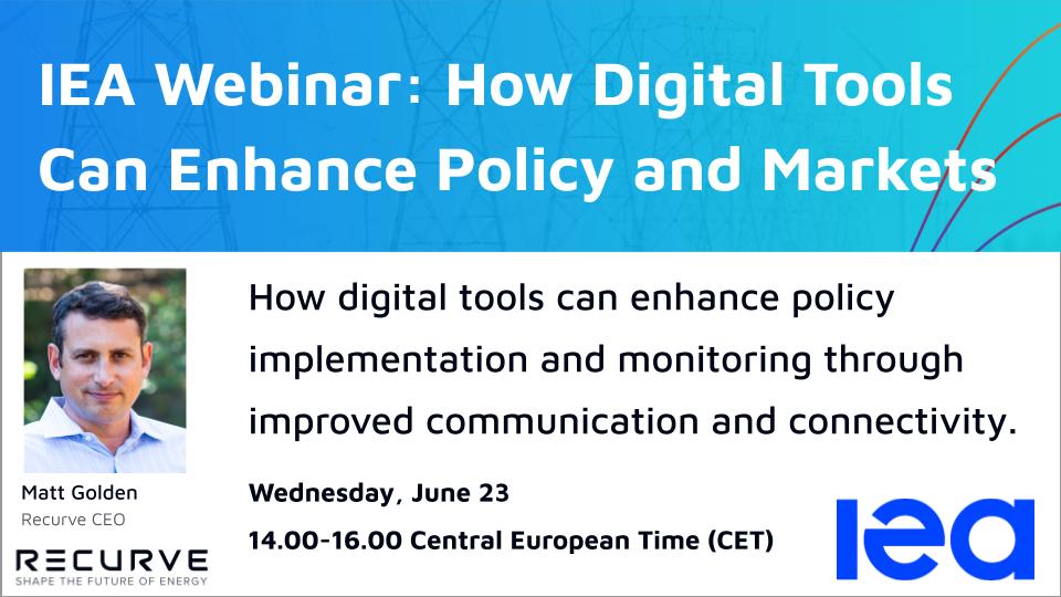 IEA Webinar: How Digital Tools Can Enhance Policy and Markets