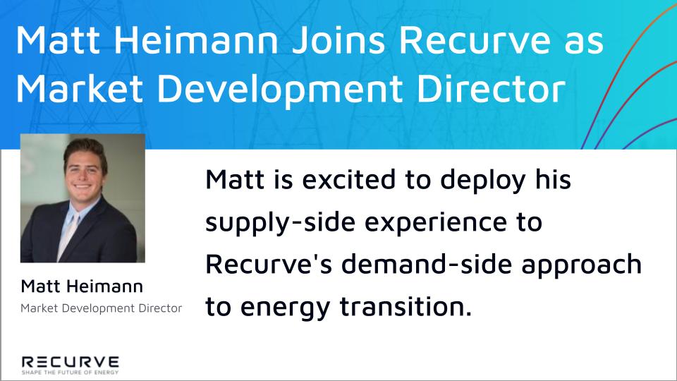 Matt Heimann Joins Recurve as Market Development Director