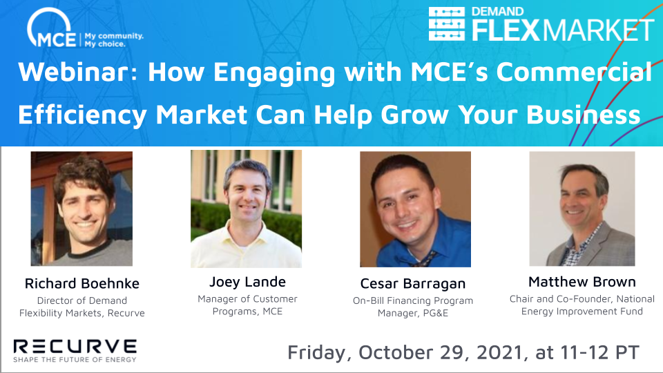 Webinar: How Engaging with MCE's Commercial Efficiency Market Can Help Grow Your Business