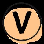 letter V in circle