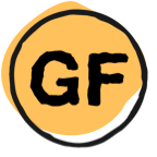 letters GF in circle
