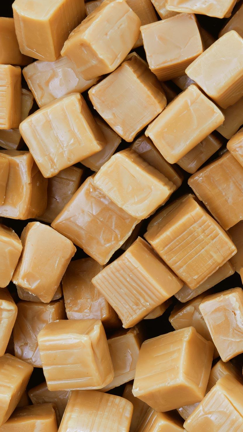 cubes of caramel