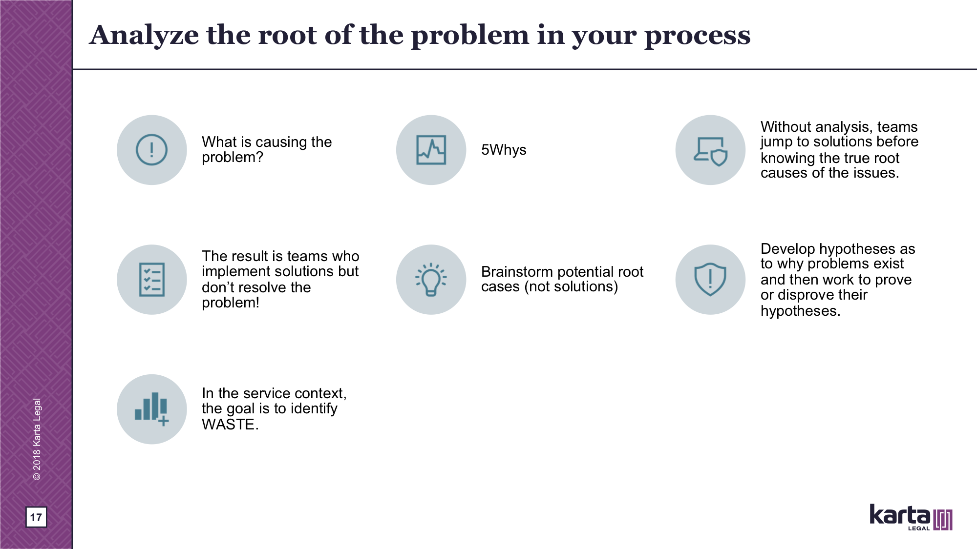 Cause root of the problem in your process