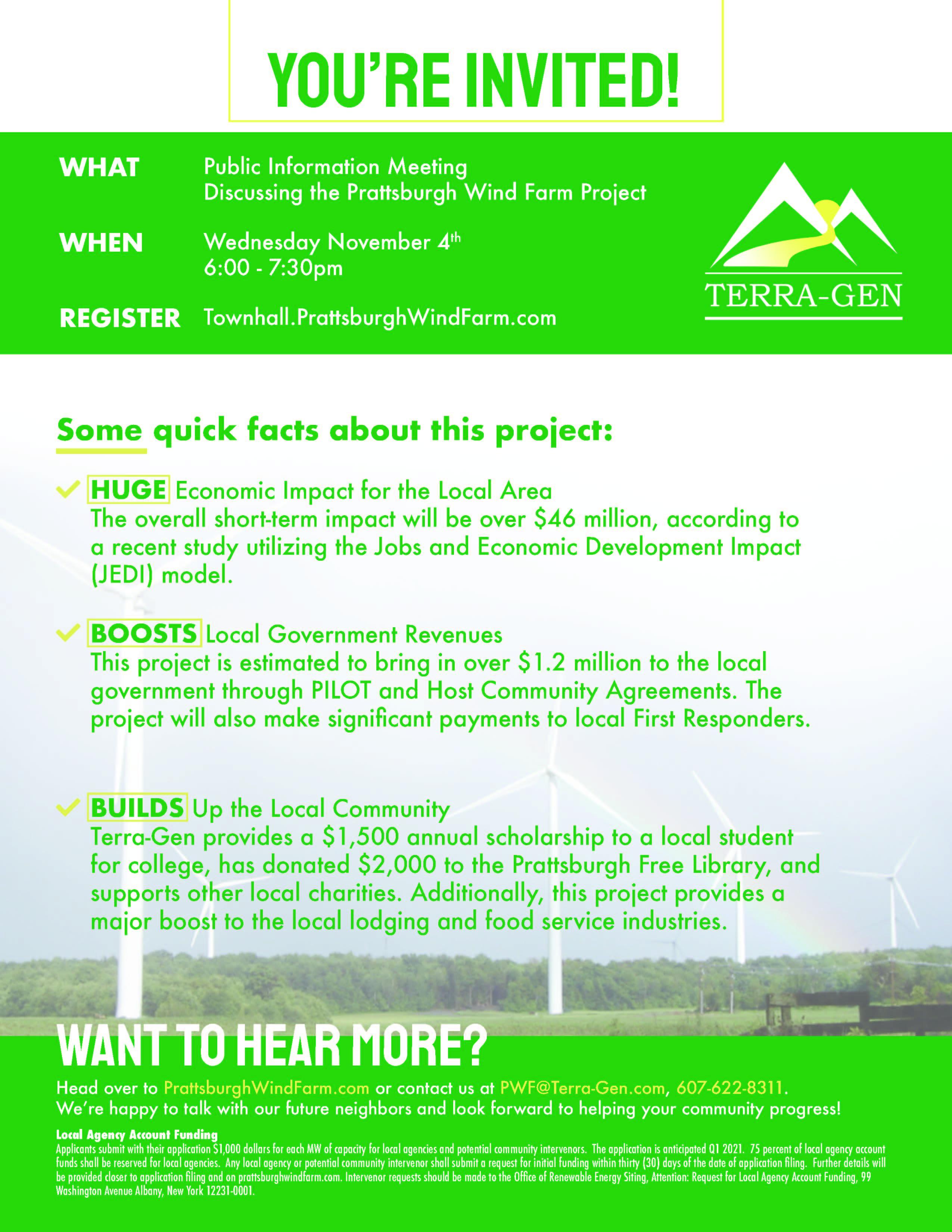 Information Meeting Flyer