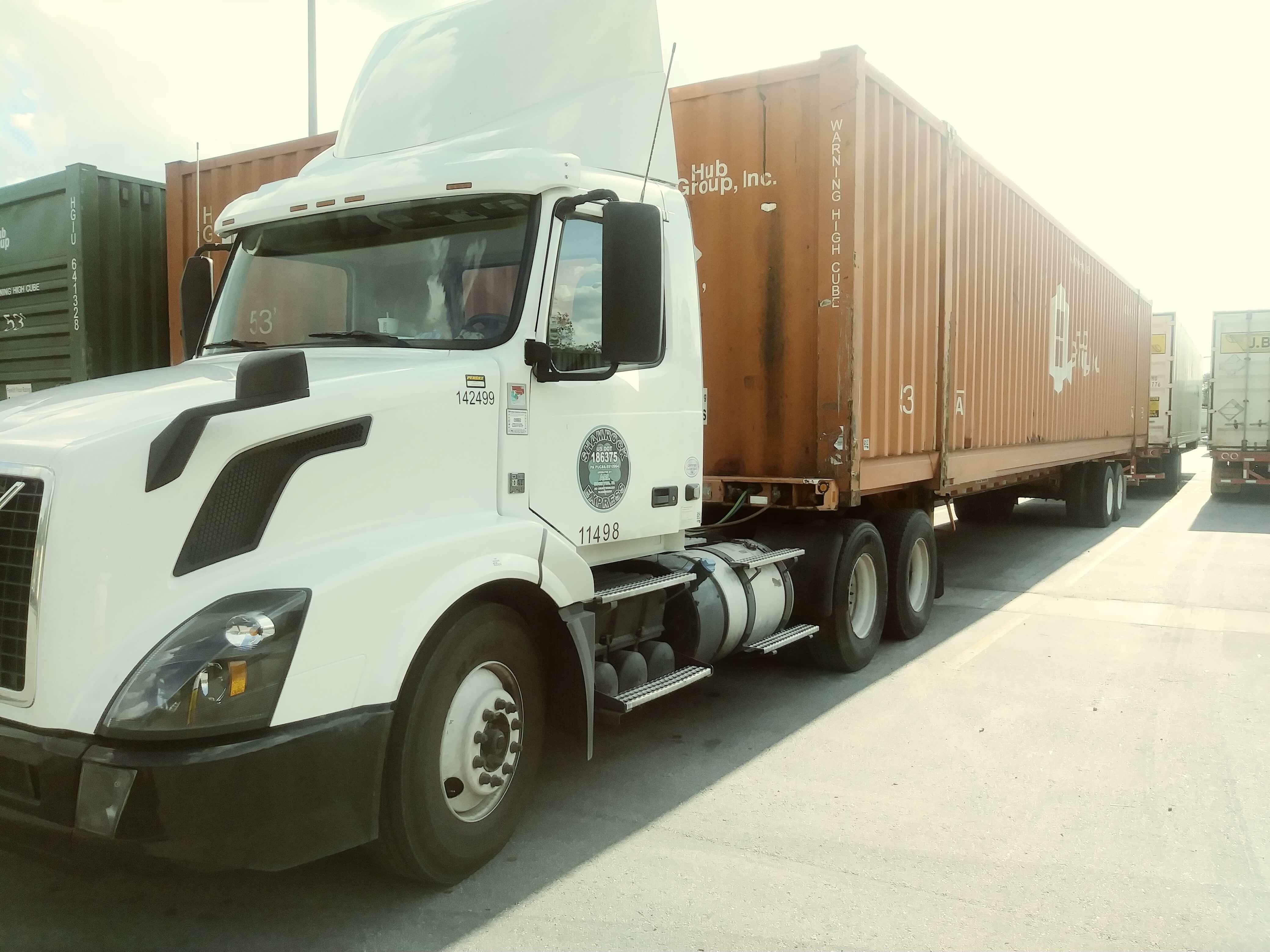 Shamrock Express Intermodal Truck