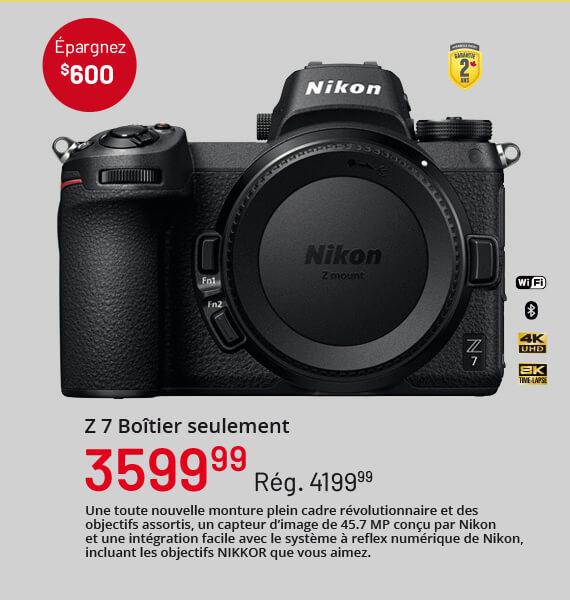 Nikon Z 7 Boîtier