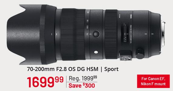 Sigma 70-200mm F2.8 OS DG HSM   Sport