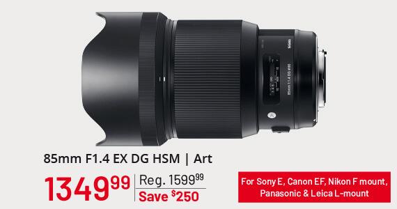 Sigma 85mm F1.4 EX DG HSM   Art