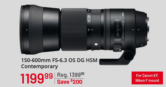 Sigma 150-600mm F5-6.3 OS DG HSM Contemporary
