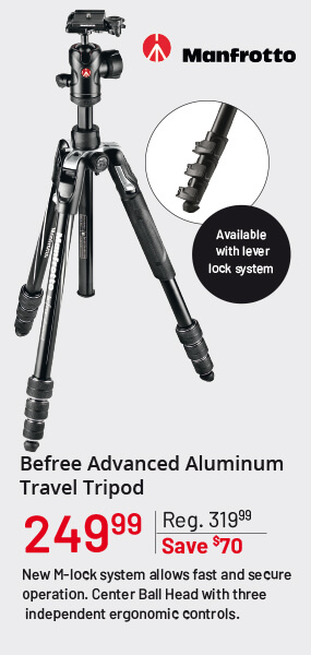 Manfrotto Befree Advanced Aluminium Travel Tripod
