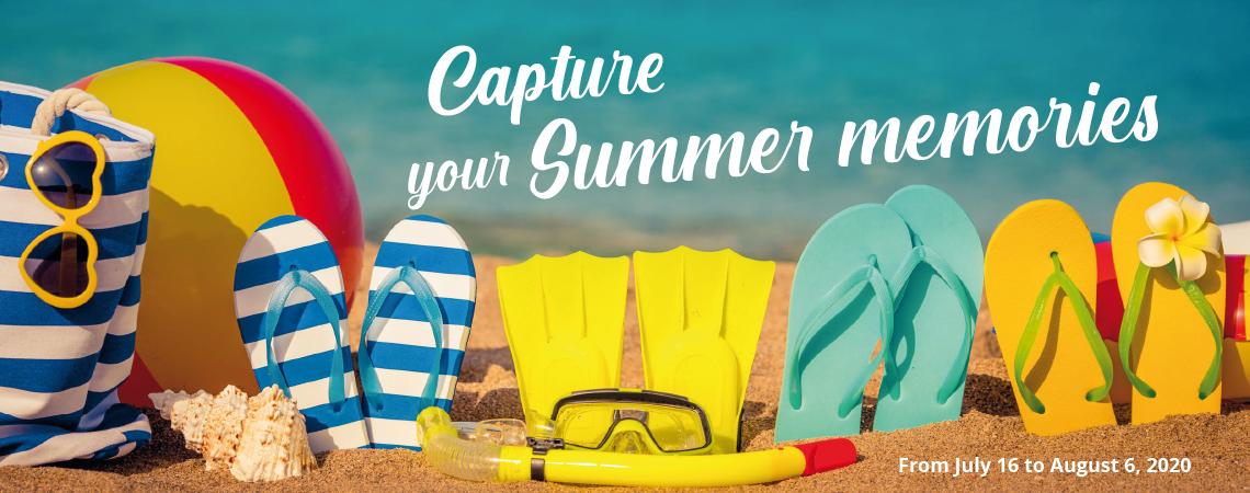 Capture your Summer memories - summer flyer