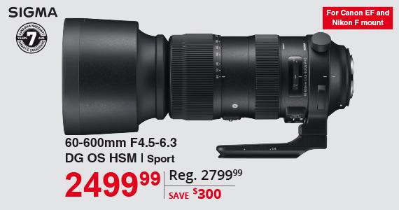 Sigma 60-600mm F4.5-6.3