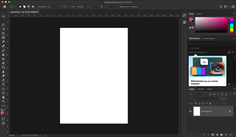 Screenshot Adobe Photoshop interface verschil