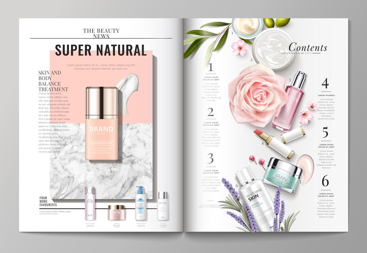 Voorbeeld van een magazine spread