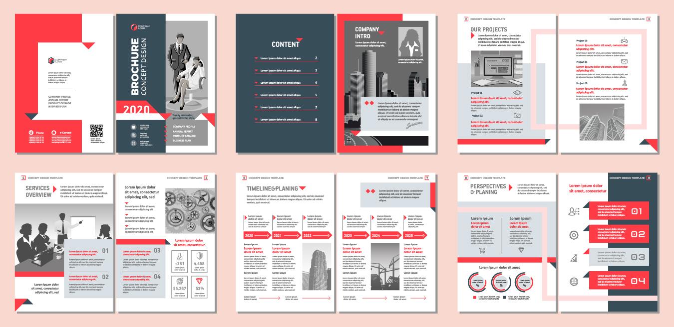 Voorbeelden vormgeving brochure