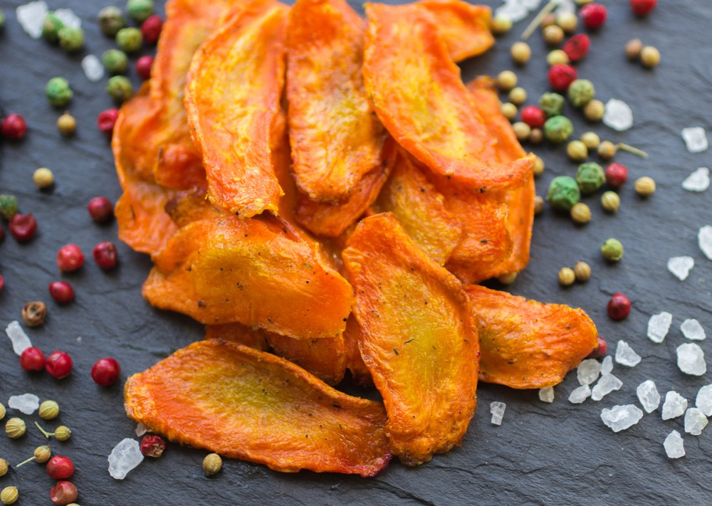 Carrot veggie chips