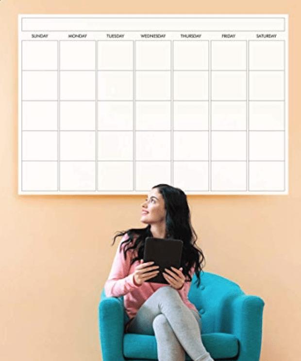 A laminated wall calendar makes a neat office gadget!