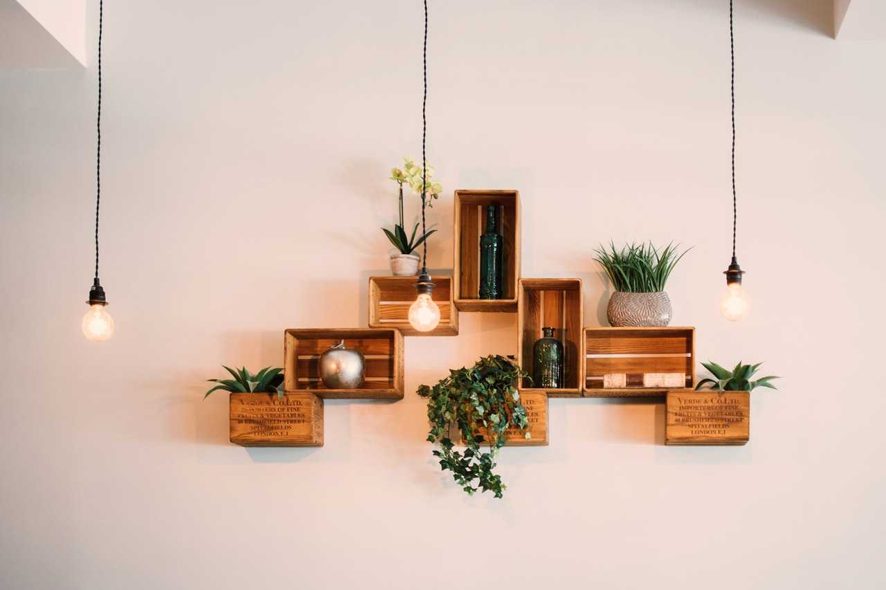 Floating shelves are a chic addition to your office and are great desk organization ideas!