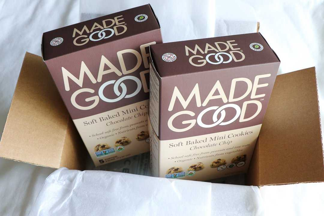 MadeGood cookies are definitely on our list of the best vegan snacks.